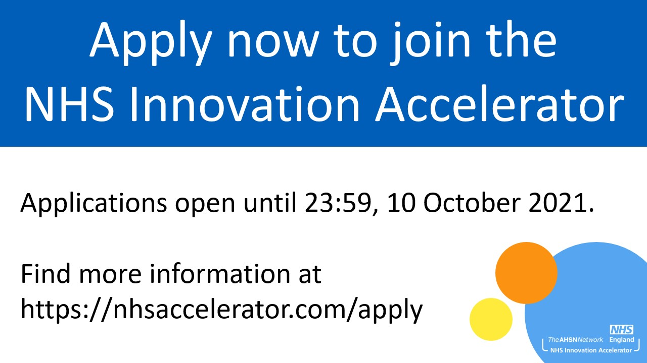 NHS Innovation Accelerator applications open
